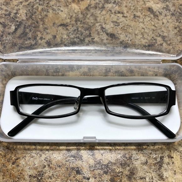 950ed39ba1c6 Dolce   Gabbana Accessories - Dolce   Gabbana Black Metal Frame Eyeglasses